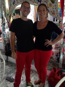 Andy and I - such good friends that we happened to wear the same outfit.  #tigueres